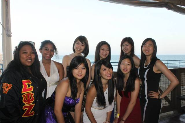 Closing banquet (From left to right, back row: Anita Lewis, Natasha Scott, Christine Kim, Hajung Yoo, Lizzi Nguyen, Jenn Sun; front row: Serena Lei, Michelle Wu, Yujin Cho)